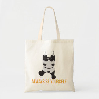 Always be yourself Panda climbing - Gift Idea Tote Bag