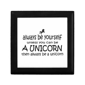 Always Be Yourself, Unless You Can Be A Unicorn Jewelry Box