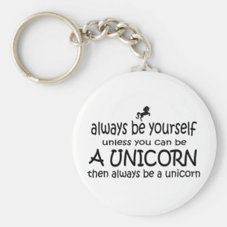 Always Be Yourself, Unless You Can Be A Unicorn Keychain
