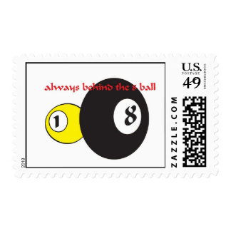 Always behind the eight ball postage
