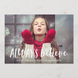 Always Believe Holiday Photo Card