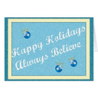 Always Believe Original Poetry Greeting Card