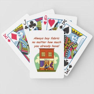 Always buy fabric poker deck