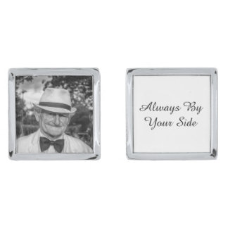 Always By Your Side Custom Memorial Photo Groom Cufflinks