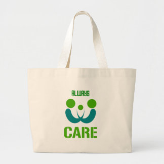always care large tote bag