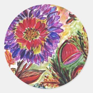 Always Cheerful Flower Classic Round Sticker