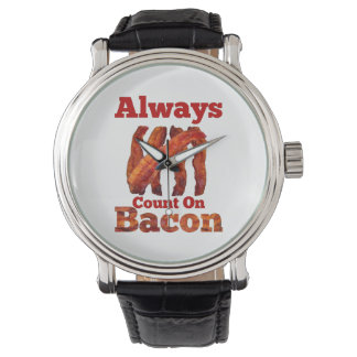 Always Count On Bacon! Wristwatch