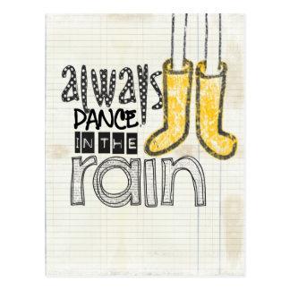 always dance in the rain postcard