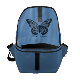 Always Dream Big l Butterfly Graphic Messenger Bag