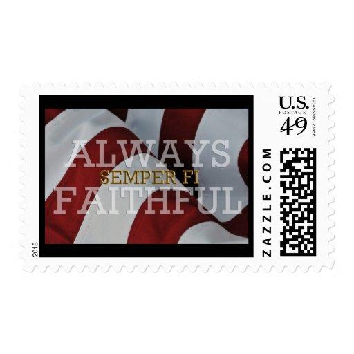 Always Faithful - Semper Fi Postage