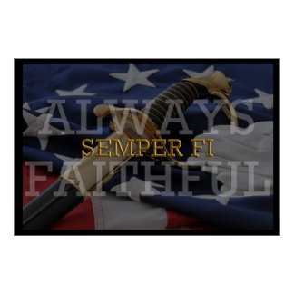 Always Faithful - Semper Fi Poster
