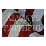 Always Faithful - Semper Fi Poster