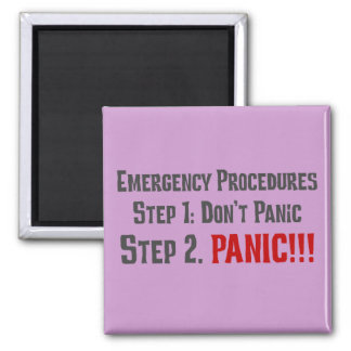 Always Follow Proper Emergency Response Procedures 2 Inch Square Magnet