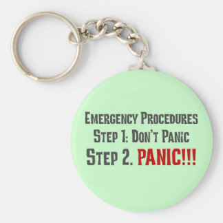 Always Follow Proper Emergency Response Procedures Keychain
