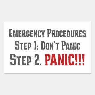Always Follow Proper Emergency Response Procedures Rectangular Sticker