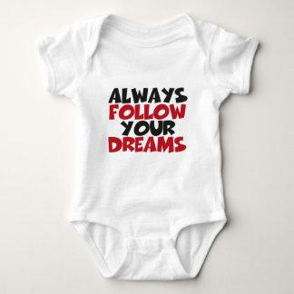 Always follow your dreams baby bodysuit