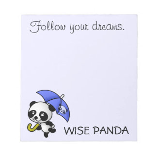 Always follow your dreams notepad