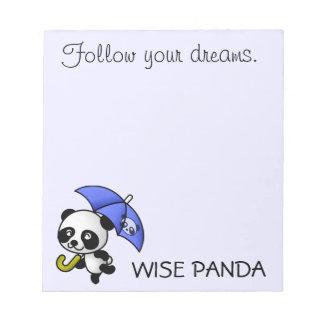 Always follow your dreams memo pads