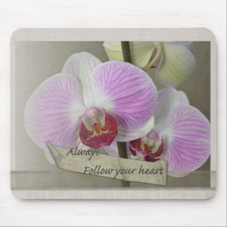 Always Follow Your Heart Orchids Mouse Pad