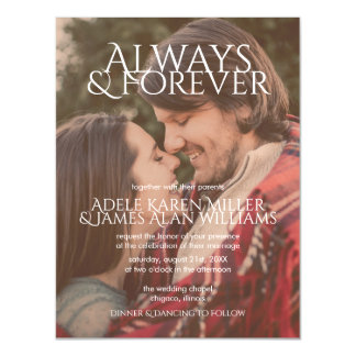 Always & Forever | Custom Photo | Wedding Magnetic Card