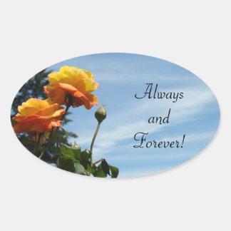 Always & Forever! Invitation seals Orange Roses