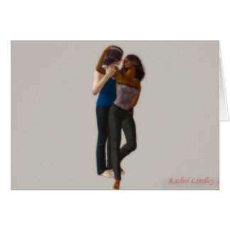Always & Forever kissing couple Greeting Card