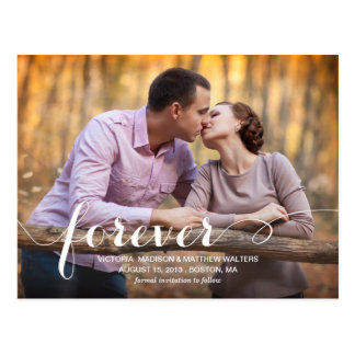 ALWAYS FOREVER SAVE THE DATE ANNOUNCEMENT POSTCARD