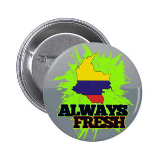 Always Fresh Colombia Pinback Buttons