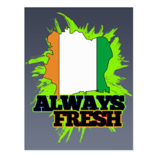 Always Fresh Cote Divoire Postcard