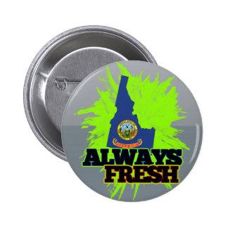 Always Fresh Idaho Pinback Buttons