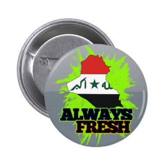 Always Fresh Iraq Button