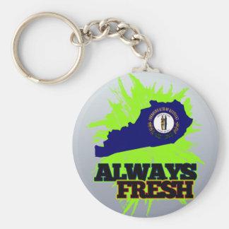 Always Fresh Kentucky Basic Round Button Keychain