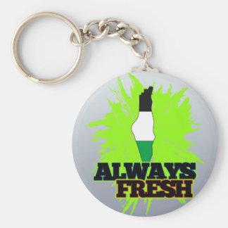 Always Fresh Palestine Basic Round Button Keychain