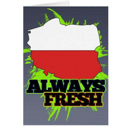 Always Fresh Poland Greeting Card