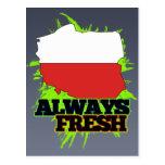 Always Fresh Poland Post Card