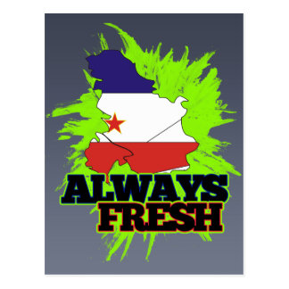 Always Fresh Yugoslavia Postcard
