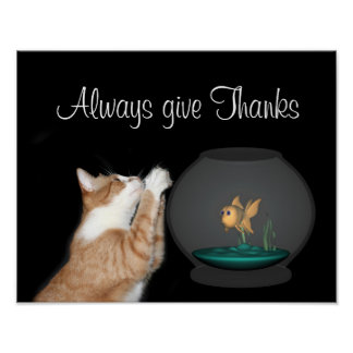 Always give Thanks Poster
