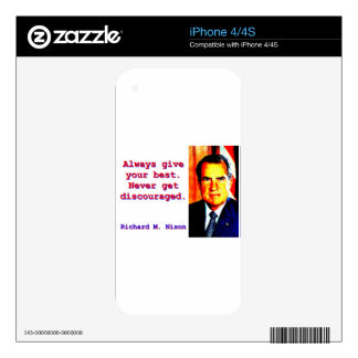 Always Give Your Best - Richard Nixon Skins For The iPhone 4S