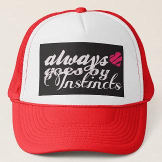 always goes by instincts trucker hat