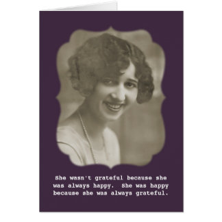 Always Grateful Vintage Photo Greeting Cards