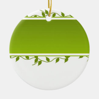 Always Green Double-Sided Ceramic Round Christmas Ornament
