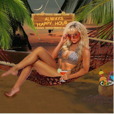 Beach Themed Always Happy Hour Statuette