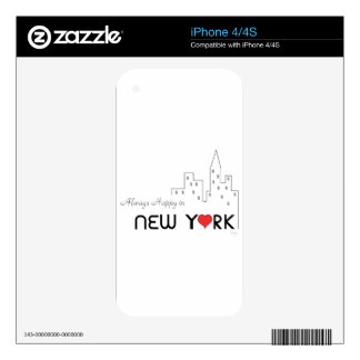 Always Happy in New York Skins For The iPhone 4S