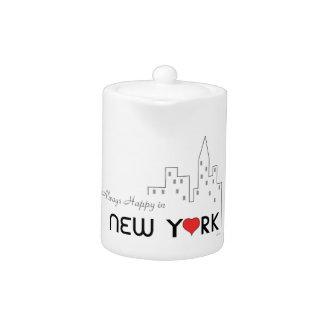 Always Happy in New York Teapot