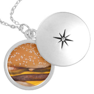 always have a burger locket necklace