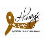 Always Hope Appendix Cancer Postcard