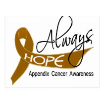 Always Hope Appendix Cancer Postcard
