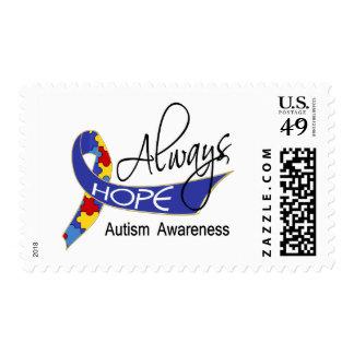 Always Hope Autism Postage