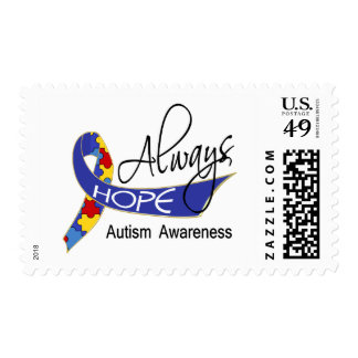Always Hope Autism Postage Stamps