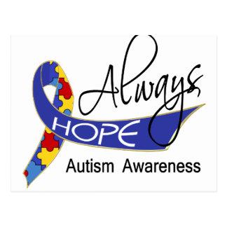 Always Hope Autism Postcard